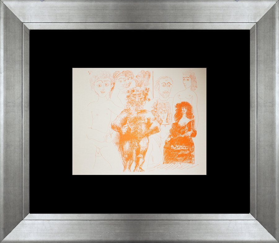 Pablo Picasso lithograph/Gravure in ink from 1970 Eroti