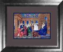 Fouquet Lithograph miniature of the Conde Museum