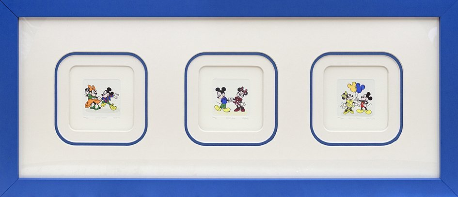 Mickey Mouse and Minnie Mouse fine art lithograph