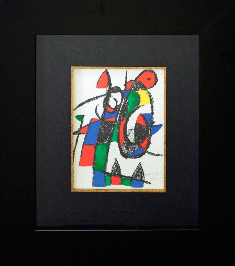 Joan Miro Hand Signed Custom Framed original Lithograph
