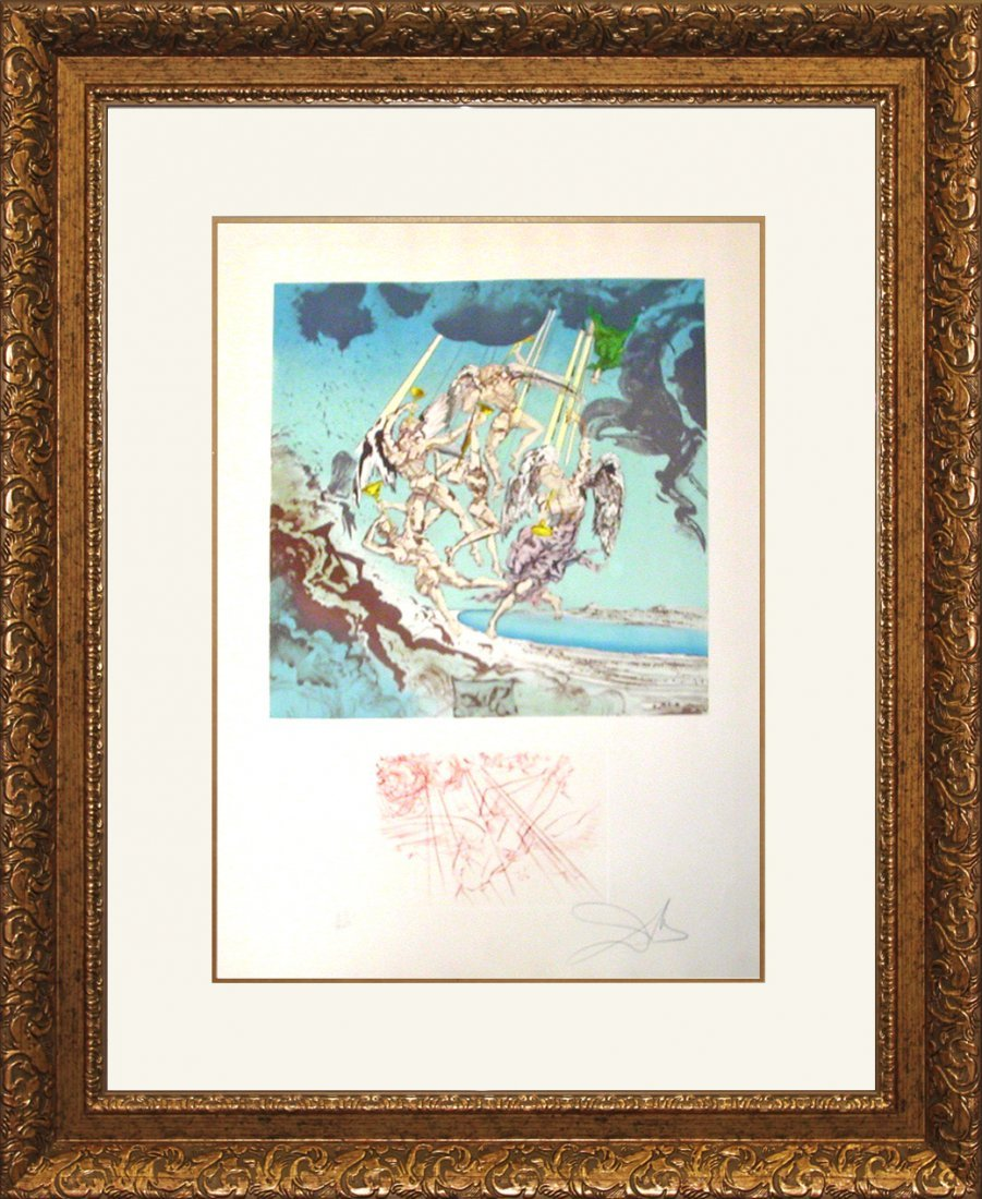 Salvador Dali Limited Edition Lithograph Return of Ulys