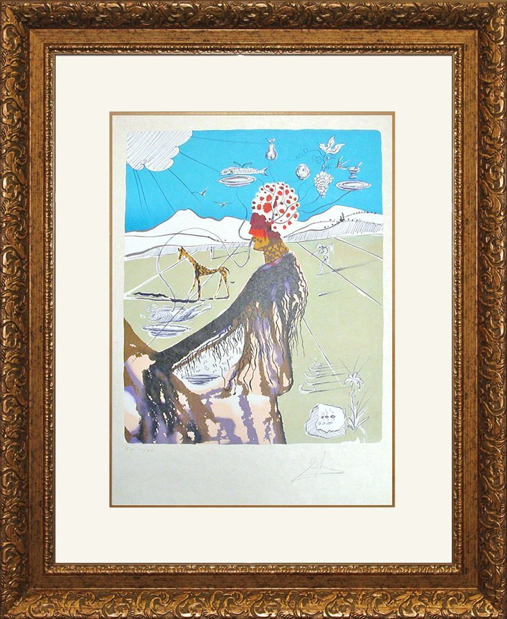 Salvador Dali Limited Edition Lithograph Earth Goddess