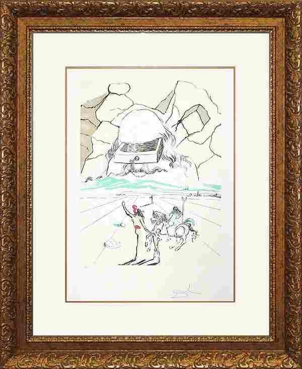 Salvador Dali Limited Edition Lithograph Path to Wisdom