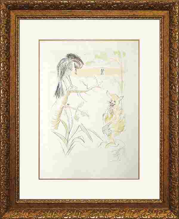 Salvador Dali Limited Edition Lithograph The Raven and