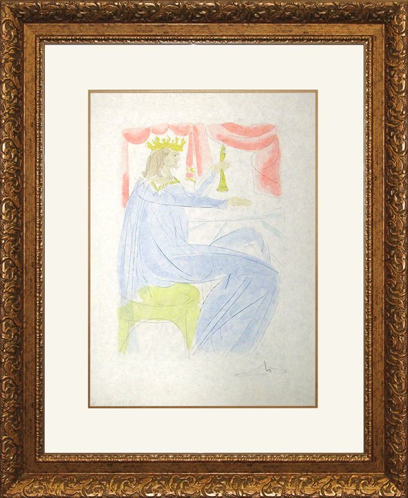 Salvador Dali Limited Edition Lithograph King Solomon
