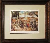 Salvador Dali Limited Ed Lithograph Battle of Tetuan