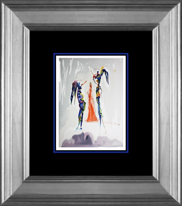 Salvador Dali Original Wood Block Divine Comedy from