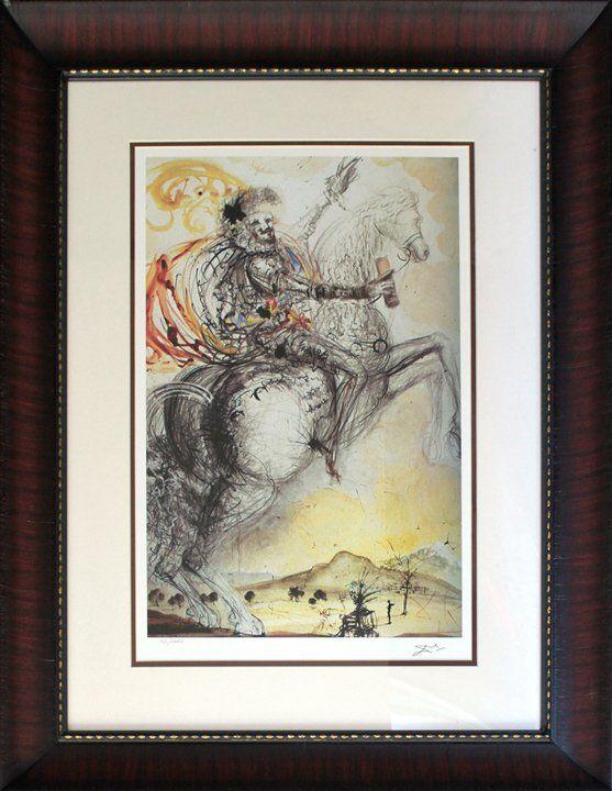 Salvador Dali Limited Edition Lithograph El Cid