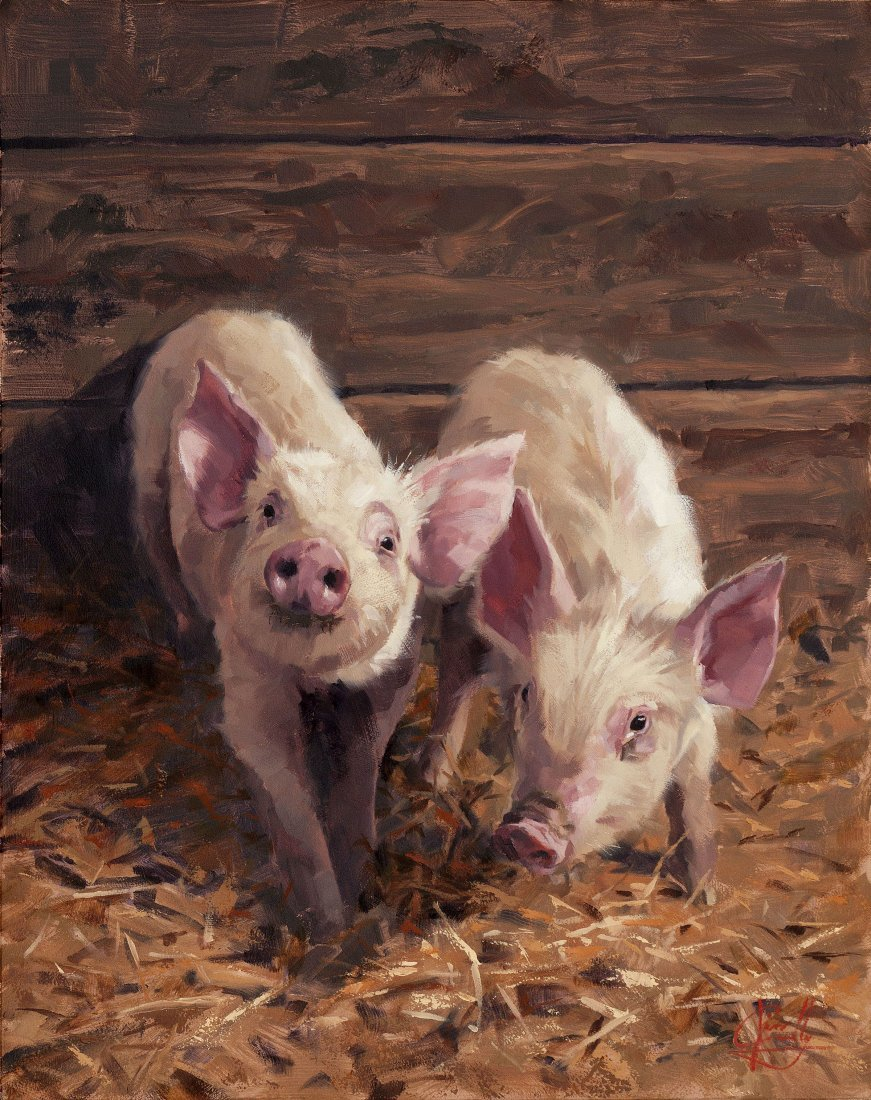 """""""Porky & Beans"""" by Jim Connelly OPA"""