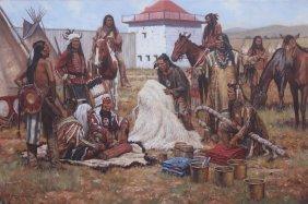 """The White Buffalo Robe 1833"" by Steven Lang OPAM"