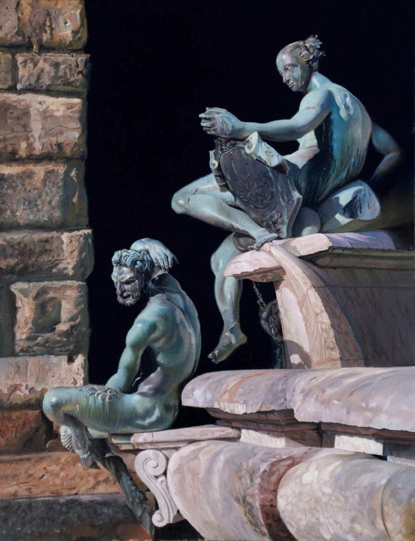 """""""Fountain at Piazza Della Signoria"""" by Lee Alban OPA"""