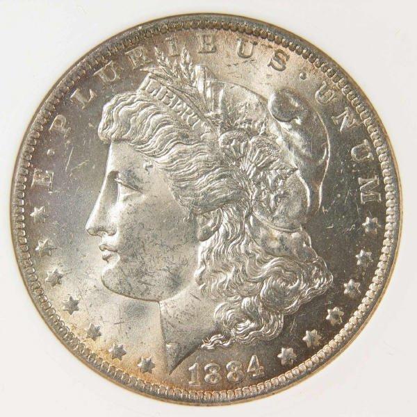 1003: 1884-O Morgan Silver Dollar ANACS MS 60 Details