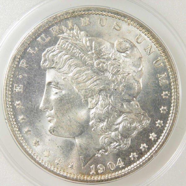 1004: 1904-O Morgan Silver Dollar PCGS MS 64 (Old Slab)