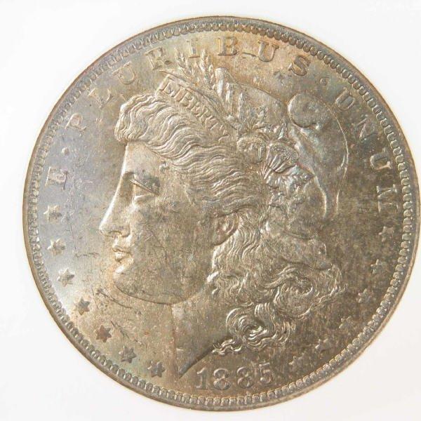 1005: 1885-O Morgan Silver Dollar NGC MS 64