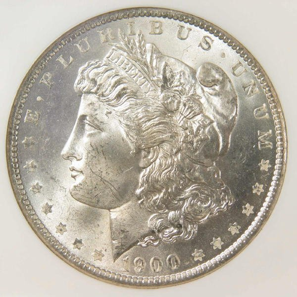 1006: 1900-O Morgan Silver Dollar NGC MS 64