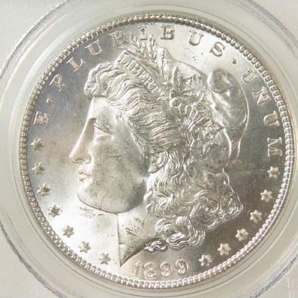 1007: 1899-O Morgan Silver Dollar PCGS MS 64