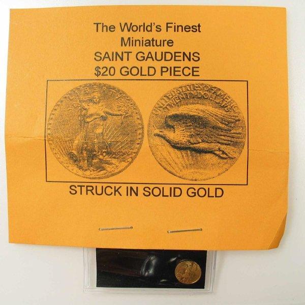 1016: Miniature St. Gaudens Gold Coin