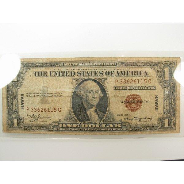 1019: 1935 A $1 Hawaii Brown Silver Certificate