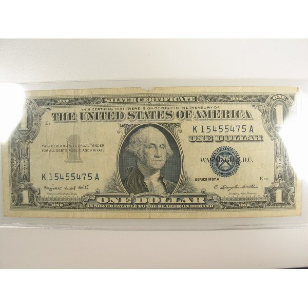 1020: 1957 A $1 Silver Certificate Small Size Note