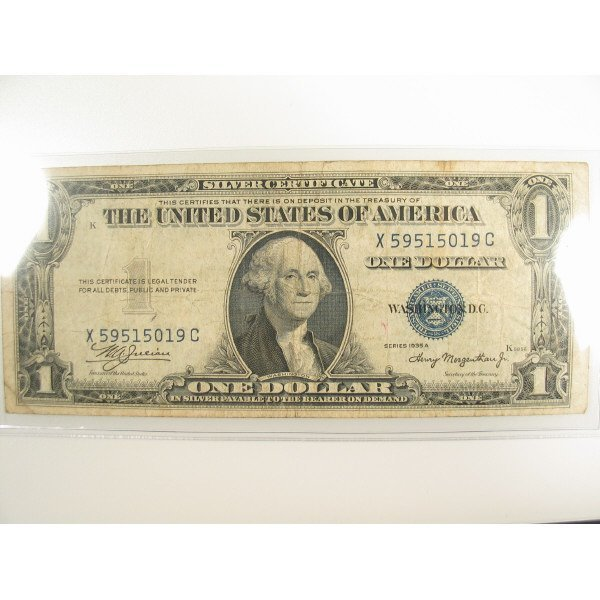 1023: 1935 A $1 Silver Certificate Small Size Note