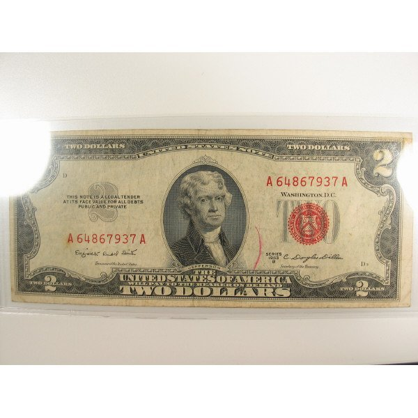 1024: 1953 B $2 Small Size Note