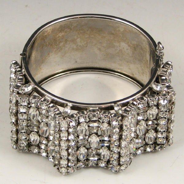 4: Large Vintage Rhinestone Bracelet