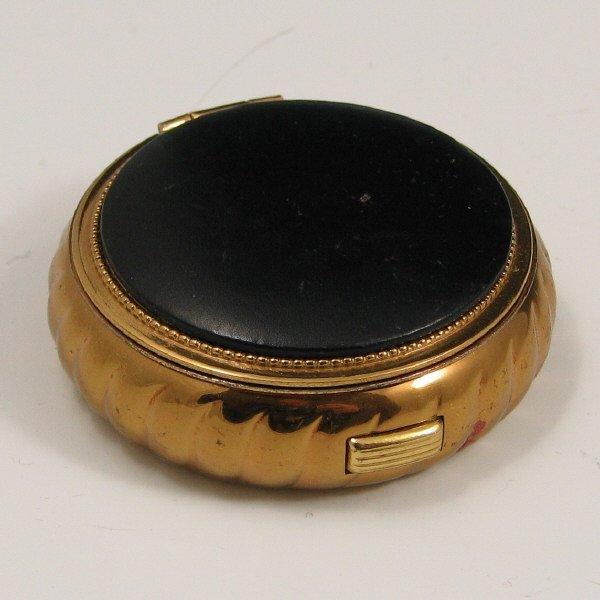 5: Vintage Gold Tone Evans Powder Compact