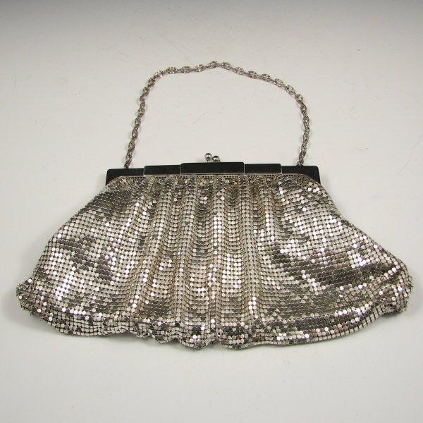 7: Large Whiting & Davis Mesh Handbag
