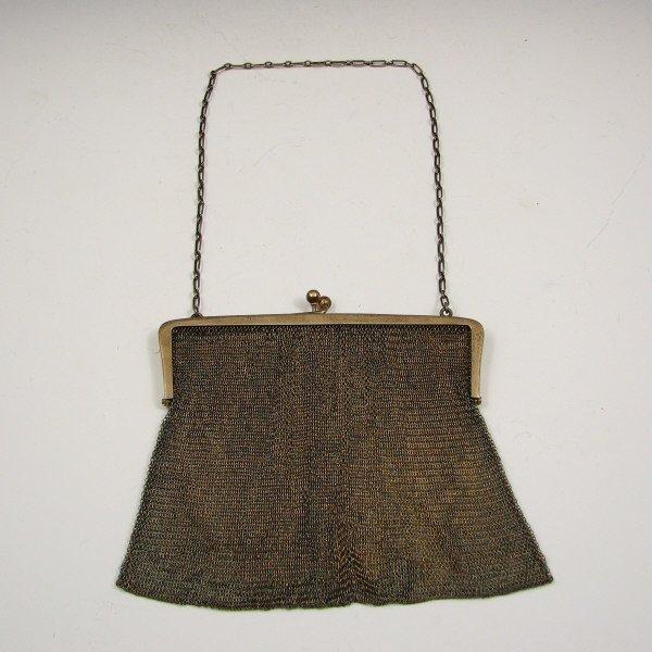 9: Antique Sterling Silver Mesh Handbag