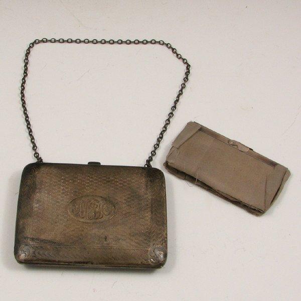11: Antique Sterling Silver Monogram Handbag or Book