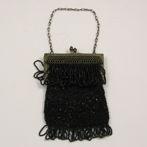 15: Vintage Beaded Purses with Lattice Decorated Frame