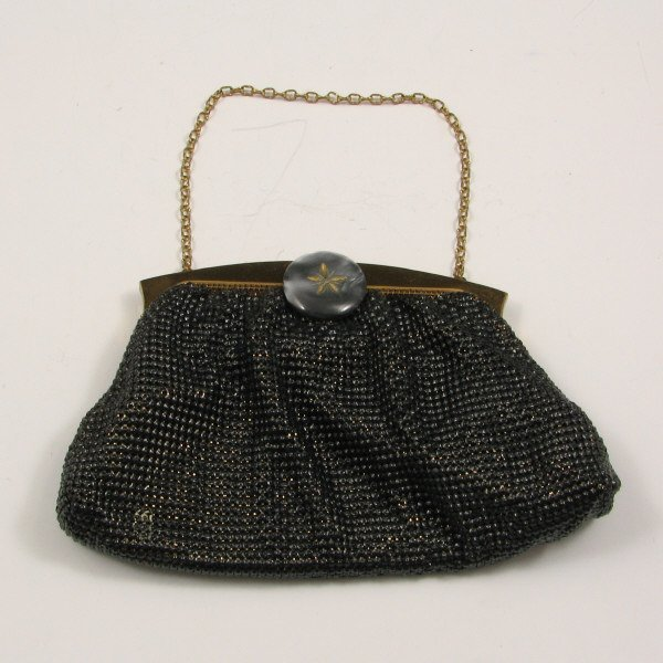16: Whiting & Davis Bag w/ Mother Of Pearl Style Clasp