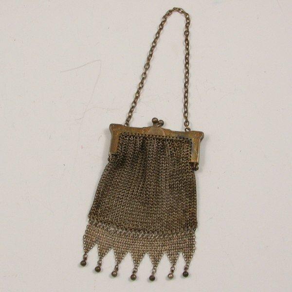 19: Small Antique Mesh Handbag with Beads