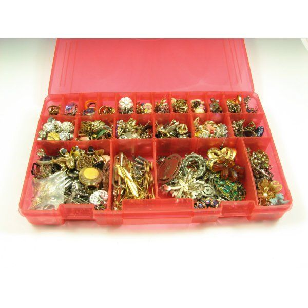 24: Large Box of Assorted Vintage Costume Jewerly