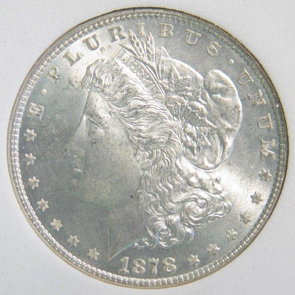 76: 1878 7TF Rev. 79 Morgan Silver Dollar SGS MS-66