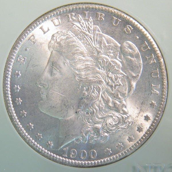 143: 1900-S Morgan Silver Dollar NTC MS-66