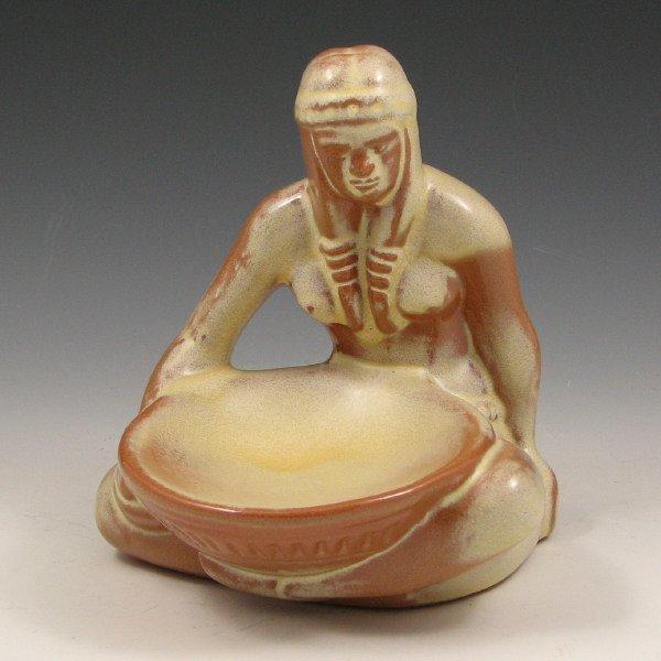 509: Frankoma Bowl Maker Beige/Brown Indian - Mint