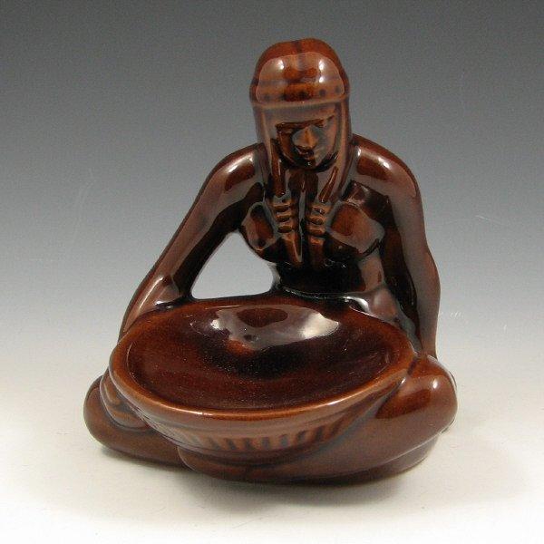 510: Frankoma Bowl Maker Brown Gloss Indian - Mint