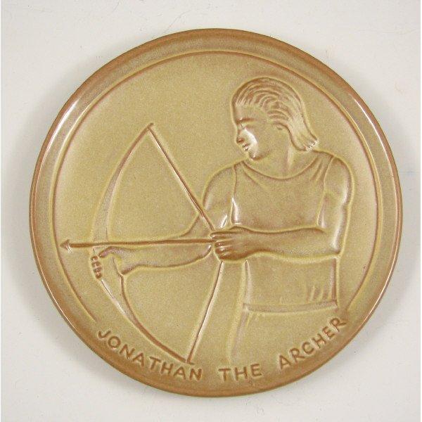 513: Frankoma Jonathan the Archer Plate - Mint