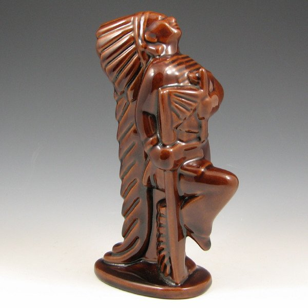 520: Frankoma Prancing Indian Chief in Brown - Mint