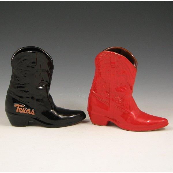 522: Two (2) Frankoma Cowboy Boots (Texas) - Mint