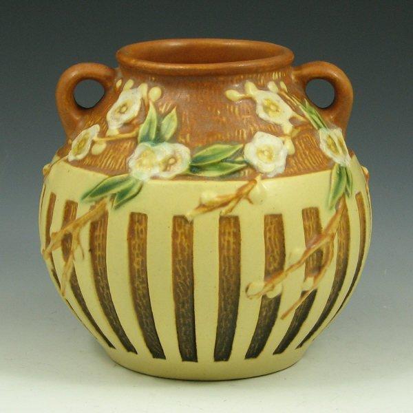 """1: Roseville Cherry Blossom 618-5"""" Vase"""