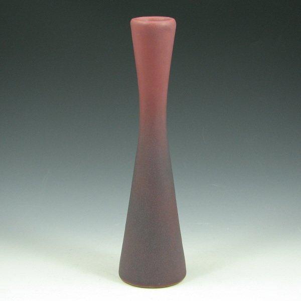 """3: Van Briggle Persian Rose 8 3/4"""" Bud Vase - Mint"""
