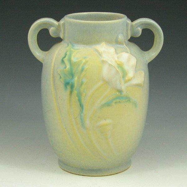 """4: Roseville Poppy 867-6"""" Vase"""