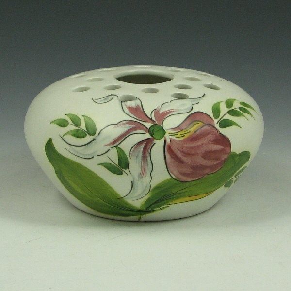 13: Wood & Sons Handpainted Flower Holder - Mint