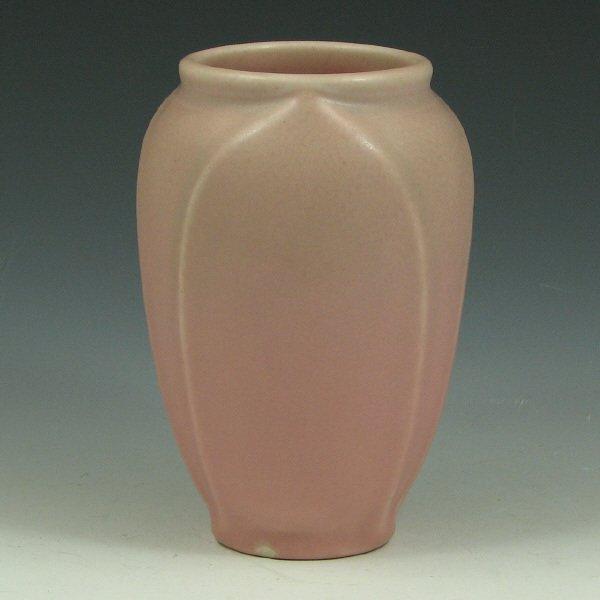 14: Rookwood 1928 Matte Pink & Green Vase