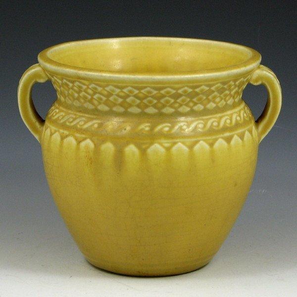 20: Rookwood 1925 Mustard Yellow Handled Vase