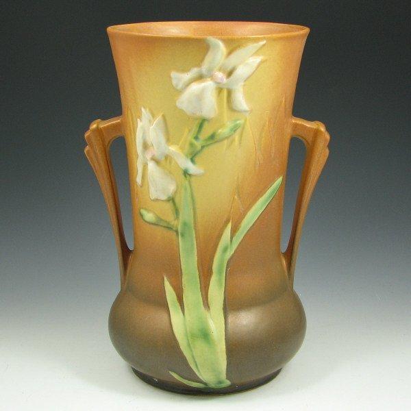 """67: Roseville Iris 927-10"""" Vase"""