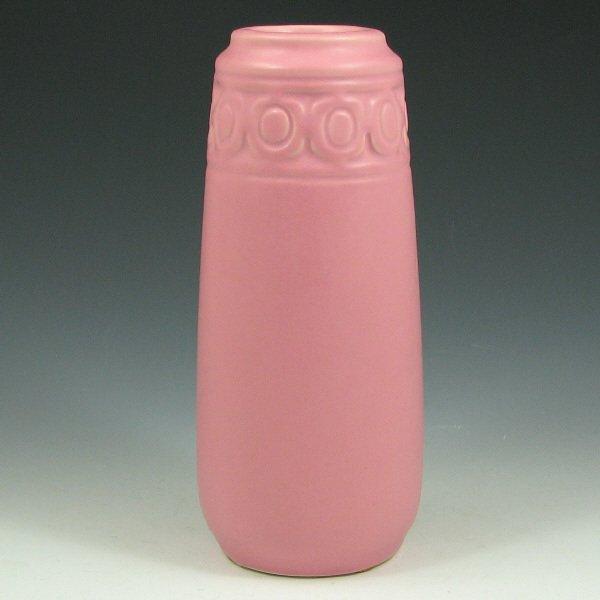 """146: Rookwood 2002 Matte Pink 8 1/8"""" Vase - Mint"""