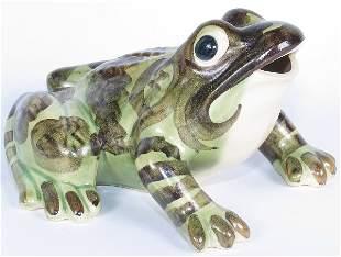 "Brush 7 5/8"" Frog Ornament - Mint"